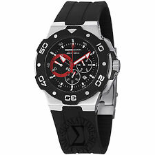 Momo Design Men's Tempest Black Dial Rubber Strap Quartz Watch MD1004-01BKRD-R