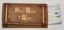 New Disney Once Upon A Time Book Cover Flap Wallet Clutch Tote Billfold Trifold