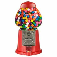 Mini Gumball Dispenser Machine Toy With Bubble Gum Party Bag Coin Operated - Red