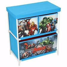 Marvel Avengers Kids/Childrens Toy Storage Unit Canvas 3 Drawer Boys Organiser