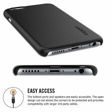 iPhone 6 Case, Spigen® [Exact-Fit] Non-Slip [Thin Fit] [Smooth Black] Premium SF