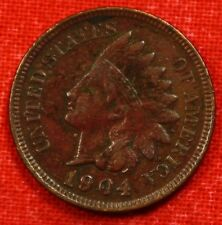 1904 Indian Head Cent Penny Xf Collector Coin Gift Check Out Store Ih874
