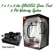 INDOOR GROW TENT 1X1X2M GroCELL AND WITH 5 POT HYDROPONIC WATERING SYSTEM