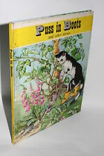 Vintage Children's Book, Puss in Boots, 1965, Tulip Series, Great Illustrations