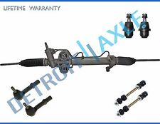 7pc Complete Hydraulic Power Steering Rack and Pinion Suspension Kit