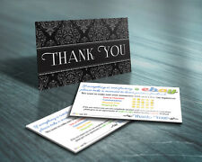100 THANK YOU Business Cards ebay Seller 5 FIVE STAR Rating PROFESSIONAL Elegant