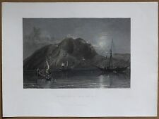 1836 Bartlett print MOUNT AQRAA (MOUNT CASIUS), NEAR MOUTH OF ORONTES; TURKEY