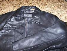 NWOT - NICOLE MILLER NYC - MENS LAMBSKIN LEATHER JACKET - M - EXCELLENT - BLACK