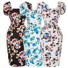 New 50s Vintage Rockabilly Pinup Retro Party Wiggle Floral Pencil Pinup Dress BP