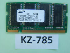 256MB Samsung DDR1 Notebook RAM PC2100S 266MHzSO-DIMM M470L3224FT0-CB0 #KZ-785