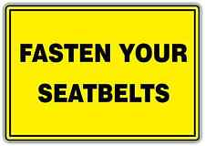 "Fasten Your Seatbelts Seat belt Safety Car Bumper Vinyl Sticker Decal 5""X4"""