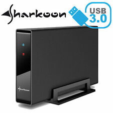 3000GB externe SHARKOON - Swift Case Pro  Festplatte  USB 3.0 - black Alu 3TB