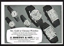 1950's Vintage 1957 J. Horton Co. - Record Watch Watches - Paper Print AD