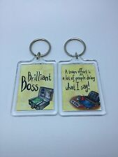 Brilliant Boss Keyring - Xmas Gift Present Idea