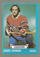 1973 - 74 Topps Hockey Set JAQUES LAPERRIERE Card - CANADIENS