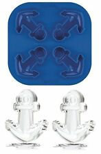 Tovolo Silicone Anchor Ice Cube Tray Mold, 4 Detailed Ice Candy Jello Cubes