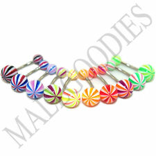 W039 Acrylic Belly Naval Rings Bars Stripes LOT of 10