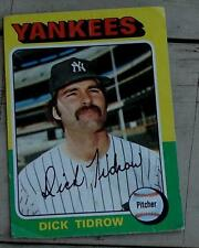 Dick Tidrow, Yankees,  1975  #241 Topps Baseball Card,  GOOD CONDITION
