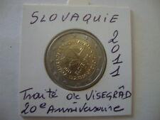 SLOVAQUIE 2€ Commémo UNC 2011 Traité VISEGRAD