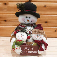 2016 Christmas Xmas Standing Decoration Santa Claus Snowman Deer Table Ornament
