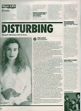 TORI AMOS Little Earthquakes album review UK magazine ARTICLE / clipping