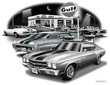 "CHEVELLE SS 1970 MUSCLE CAR AUTO ART PRINT  #1225  ""FREE USA SHIPPING"""