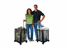 NEW Utility Rolling Shopping Cart Folding Laundry Grocery Basket Storage Wheeled