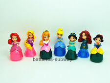 Lot 7 Disney Princess Snow White Cinderella Aurora Rapunzel PVC Action figure