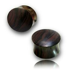 "PAIR OF ORGANIC 3/4"" INCH SONO WOOD plugs organic body jewelry"