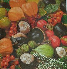 4 x singolo di carta TOVAGLIOLI DECOUPAGE FAI DA TE TAVOLA FESTA-, verdure - 15