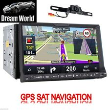 "GPS Nav AM FM Radio TV Bluetooth Car Stereo DVD CD Player 2 Din 7"" HD+Camera"