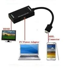 MHL Micro USB to HDMI HD TV Adapter Cable Samsung Galaxy S2 & Note N7000