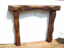 SOLID OAK BEAM FIRE SURROUND FIREPLACE MANTEL LINTEL CHUNKY RUSTIC