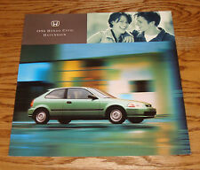 Original 1996 Honda Civic Hatchback Deluxe Sales Brochure 96