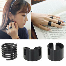 Punk Unique 3PCS/Set Black Spiral Ring Smooth Combination Joint Openings Rings
