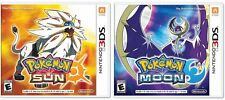 Nintendo 3DS Pokemon Sun & Moon Lot Dual Pack COMBO Includes Both Video Games