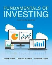 Fundamentals of Investing (BRAND NEW US HARDCOVER 13/E in SHRINK WRAP)