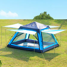 Gazelle Pop Up Camping Hiking Instant Umbrella Tent Mesh Screen Double Layer