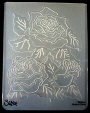 Sizzix Large Embossing Folder ROSES WITH LEAVES fits Cuttlebug & Wizard