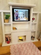 American Girl doll sized entertainment center I PAD or smart phone, furniture
