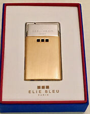 Elie Bleu Delgado Torch Flame Gold & Silver Ultra Slim Lighter, EBJ1104, NIB