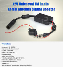 Universal Car FM Radio Aerial Antenna Signal Amplifier Booster Male To Female