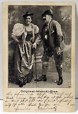 Original Meindl Duo Österreich 1908 Postkarte Ansichtskarte AK Tracht (MA749)
