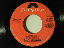 Ralph McDonald 45 PLAY PEN inst. / IN THE NAME OF LOVE vocal ~ VG+