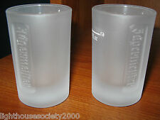 Jagermeister Frosted Shot Glasses Liquor Set Of 2 Jagermeifter Bar 1 oz Pub Rare
