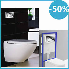Wall Hung Concealed WC Toilet Frame & Cover Duel Flush Cistern
