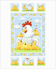 "€ 12,00/m Ausverkauf  World of Susybee  ""Pippa, the Hen"",  Panel 90  x 112 cm"