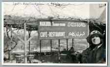 Frontière Palestino-Syrienne Vintage silver print. Postcard paper. Carte postale