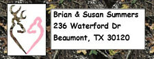 120 Camoflage Camo Browning Deer Address Wedding Labels Personalized