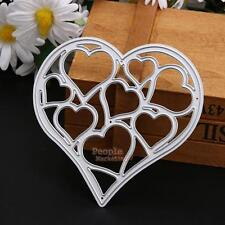 Metal Heart Shape Cutting Dies Stencil Scrapbook DIY Diary Album Embossing Craft